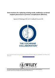 Interventions for replacing missing teeth: antibiotics at dental implant ...