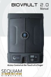 BioVault 2.0 - Biometric Safe - Manual - LockAndHinge.com
