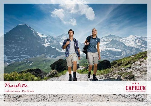 Preisliste - Hotel Caprice - Grindelwald