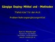 """Methoden, """"Fallstricke"""" - Dr. Kurt A. Moosburger"""
