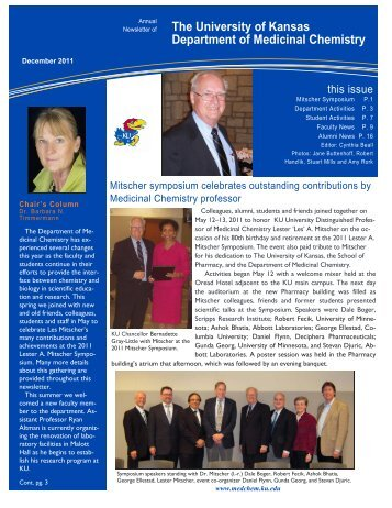 2011 Medicinal Chemistry Newsletter - Department of Medicinal ...