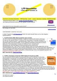 Aktuelle Nachrichten zum Large Format Printing - LFP-Newsletter.de