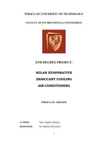 solar evaporative desiccant cooling air-conditioning