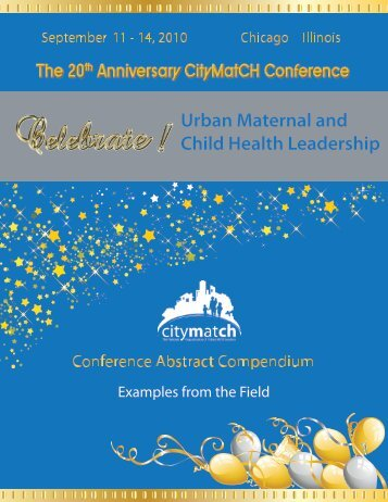 Conference Abstract Compendium - CityMatCH