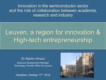 Leuven, a region for innovation & High-tech entrepreneurship