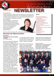 NEWSLETTER - Deutscher Hockey Club Wiesbaden