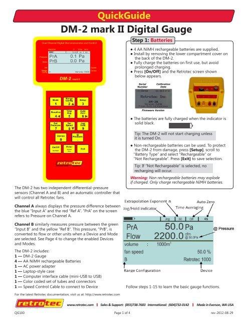 DM-2 mark II Digital Gauge - Retrotec