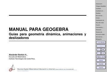 MANUAL PARA GEOGEBRA - TEC-Digital