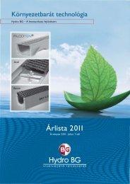 Árlista 2011 - Hydro BG KFT