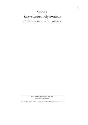 Expresiones Algebraicas - TEC-Digital