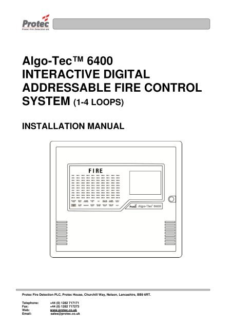 6400 installation manual  protec fire detection