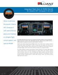 Integrated Flight Deck & RVSM Retrofit for Cessna - Avidyne