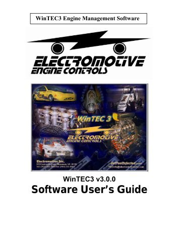 WinTEC3 Software user's Guide - Electromotive Engine Controls