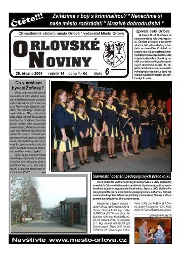 Orlovské noviny 6/2004 - Město Orlová