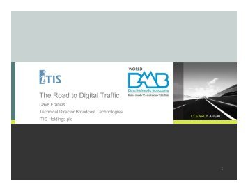 15 - The road to Digital traffic - The World DAB Forum