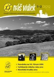 Náš vidiek 1-2_2012.pdf - Vidiecky Parlament - VIPA