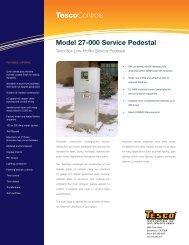 Model 27-000 Service Pedestal - Tesco Controls, Inc.