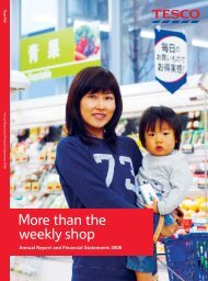 Tesco plc Annual Report and Financial Statements 2008