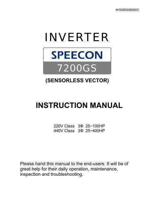 7200GS Manual - TECO-Westinghouse Motor Company on