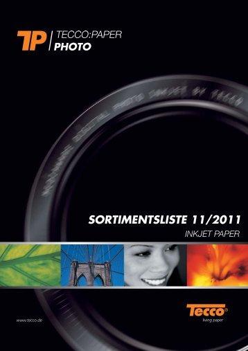 SORTIMENTSLISTE /20 - Tecco