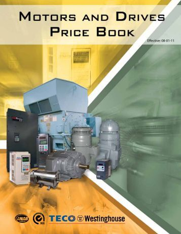Vertical Motor Brochure Teco Westinghouse Motor Company