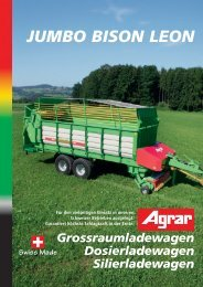 Jumbo, Bison, Leon - bei GVS Agrar AG