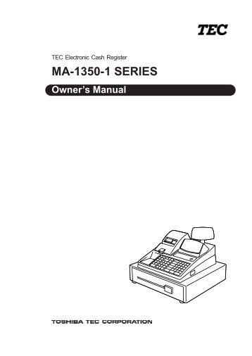 Tec ma-1350 program manual. Pdf 4s business systems inc.