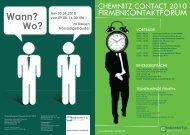 Das Firmenkontaktforum - Technische Universität Chemnitz