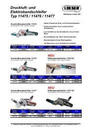 Druckluft Bandschleifer 11475 / 11476 / 11477