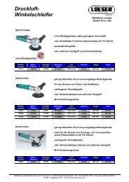 Druckluft- Winkelschleifer - Waldemar Löser GmbH & Co. KG