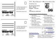 TC Selfkant-Westerheide - Tennis Club Rot Weiss Euskirchen eV