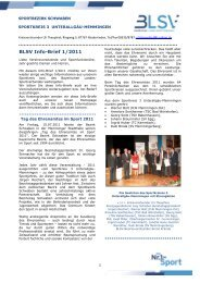 BLSV Info-Brief 1/2011