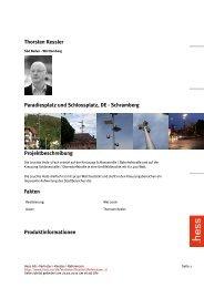 Thorsten Kessler Paradiesplatz und Schlossplatz, DE - Schramberg ...