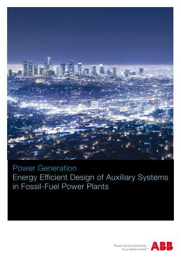 Power Generation Energy Efficient Design of Auxiliary Systems in ...