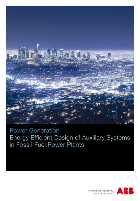 Power Generation Energy Efficient Design Of Auxiliary Systems In