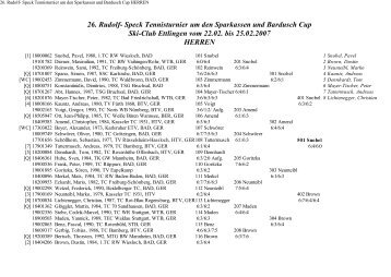 26. Rudolf- Speck Tennisturnier um den ... - Ski-Club Ettlingen