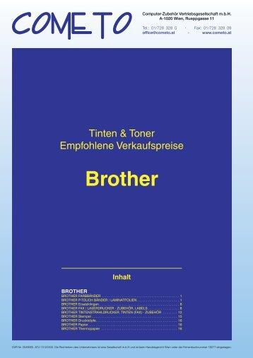 PDF-Katalog brother - Cometo