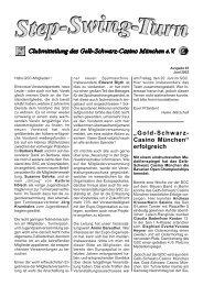 Vereinszeitung Nr. 92, Juni 2003 - Gelb Schwarz Casino München eV