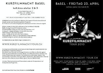 KURZFILMNACHT BASEL - kult.kino Atelier
