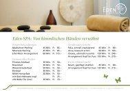 Angebot im Eden SPA - Hotel Eden