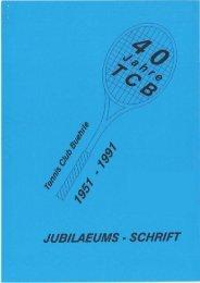40 Jahre TCB - Tennis-Club Bührle
