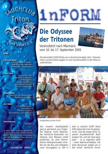 Die Odyssee der Tritonen - Tauchclub Triton - Bad Vilbel eV