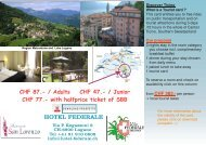 Discover the region of Ticino 3 Nights + 3 - Hotel Federale
