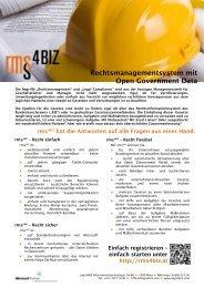 Rechtsmanagementsystem mit Open Government Data - Logic4BIZ