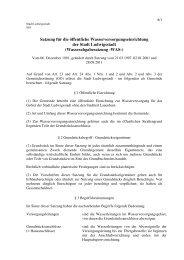 Wasserabgabesatzung -WAS - Ludwigsstadt