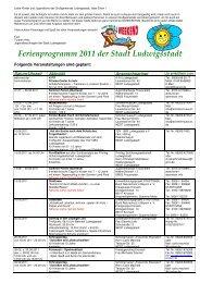 Ferienprogramm 2011 - Ludwigsstadt