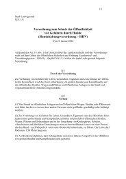 Verordnung zum Schutz der Öffentlichkeit vor ... - Ludwigsstadt