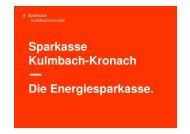 Föderprogramme Sparkasse - Ludwigsstadt
