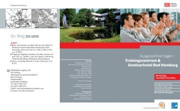 Flyer Seminarhotel Bad Homburg - DB Training