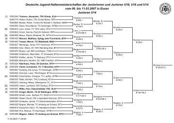 Ergebnisse 2007 - Deutscher Tennis Bund